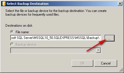 Как сделать файл для бэкапа