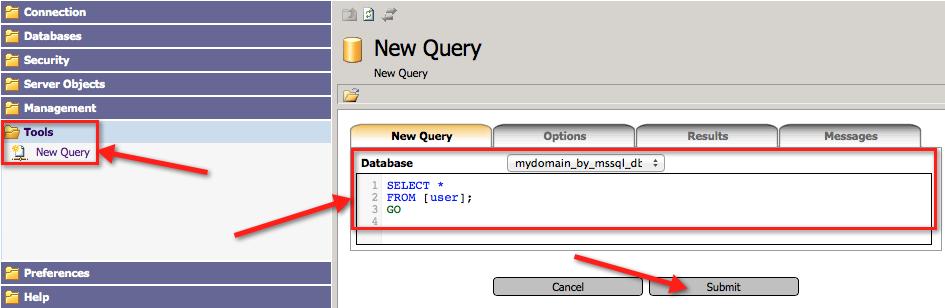 Сообщение об успешном выполнении SQL-скрипта в myLittleAdmin