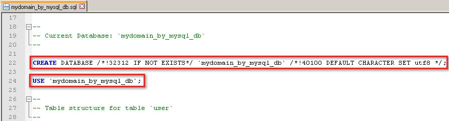 Инструкции для создания базы данных