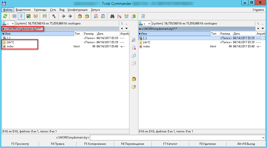 Главное окно программы Total Commander